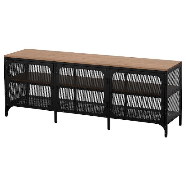 FJÄLLBO TV bench black 30 kg 150 cm 36 cm 54 cm 53 kg