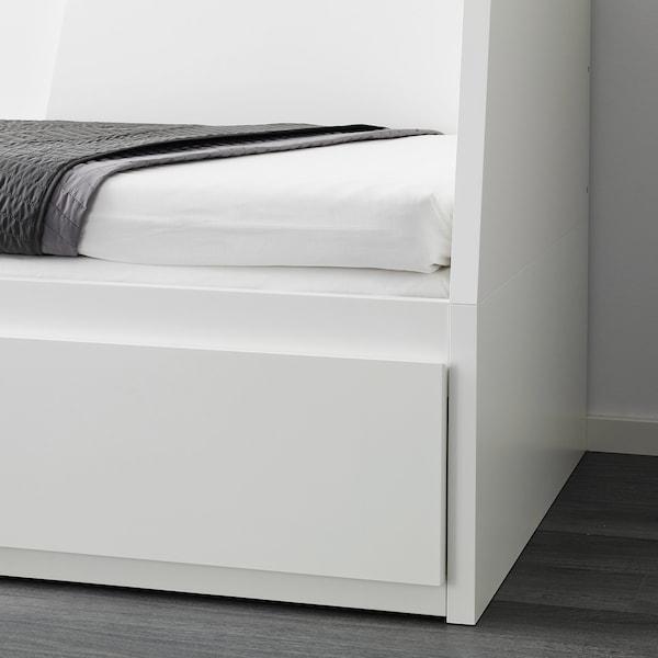 FLEKKE day-bed w 2 drawers/2 mattresses white/Husvika firm 207 cm 88 cm 86 cm 169 cm 207 cm 200 cm 80 cm