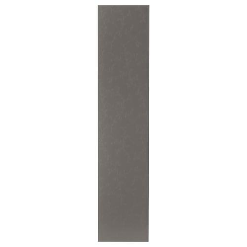 FLORNES door with hinges dark grey 49.5 cm 229.4 cm 236.4 cm 1.6 cm