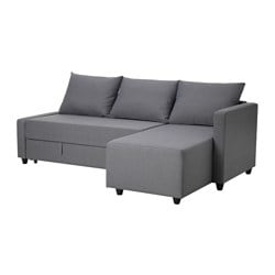 FLYBACKEN three-seat sofa-bed, Vissle grey