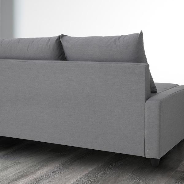 FLYBACKEN three-seat sofa-bed Vissle grey 211 cm 137 cm 64 cm 64 cm 68 cm 43 cm 125 cm 190 cm