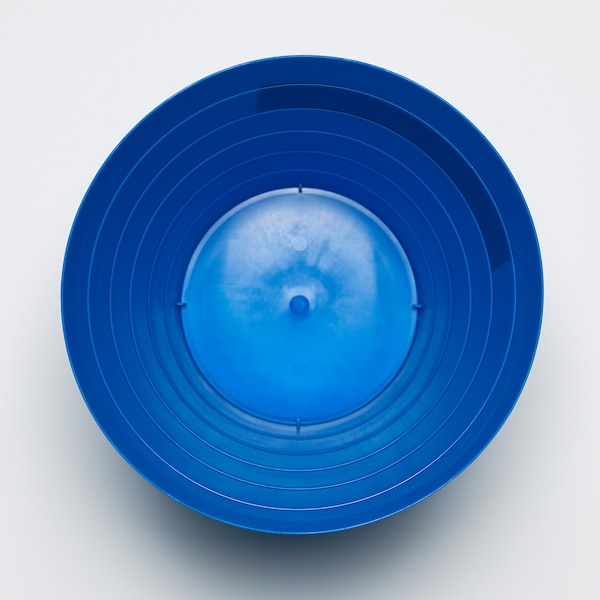 FNISS waste bin light blue 24 cm 23 cm 6.8 l