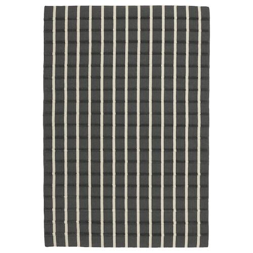FOULUM rug, flatwoven handmade grey/white 195 cm 133 cm 7 mm 2.59 m² 2225 g/m²