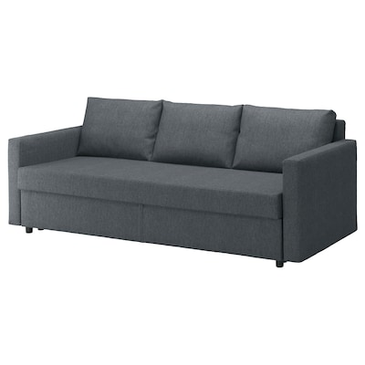 FRIHETEN 3-seat sofa-bed, Hyllie dark grey