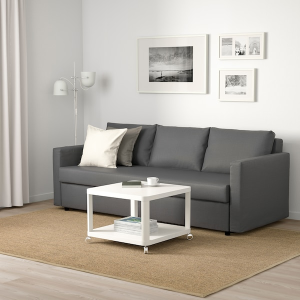 FRIHETEN Three-seat sofa-bed, Skiftebo dark grey