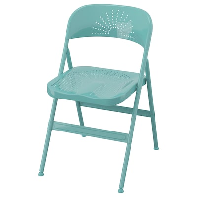 FRODE Folding chair, turquoise