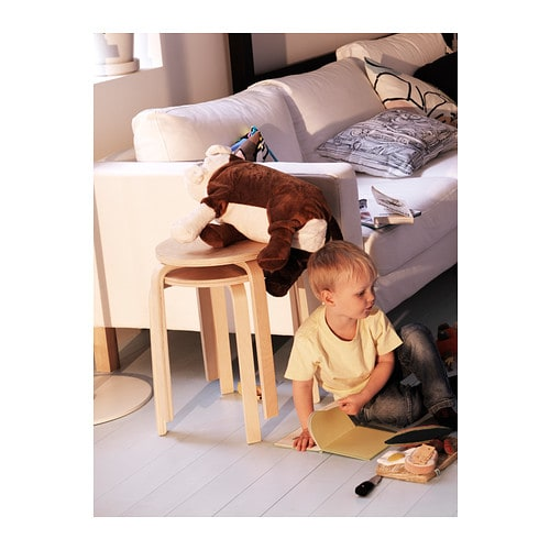 FROSTA Stool IKEA Stackable; saves space when not in use.