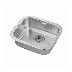 FYNDIG inset sink, 1 bowl, stainless steel
