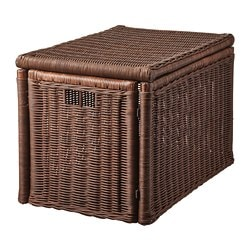 GABBIG storage box, dark brown