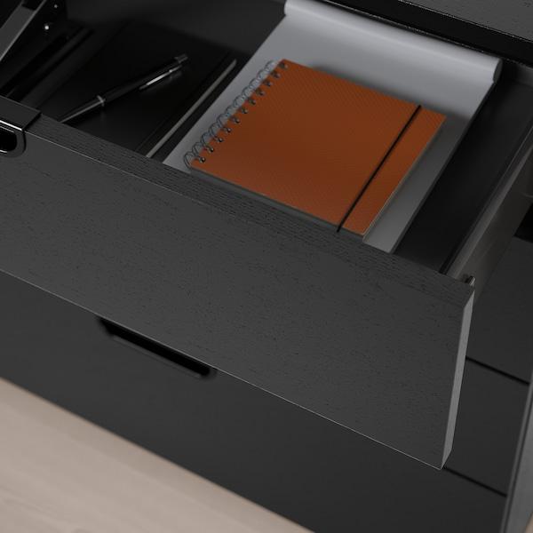 GALANT Drawer unit, black stained ash veneer, 80x80 cm