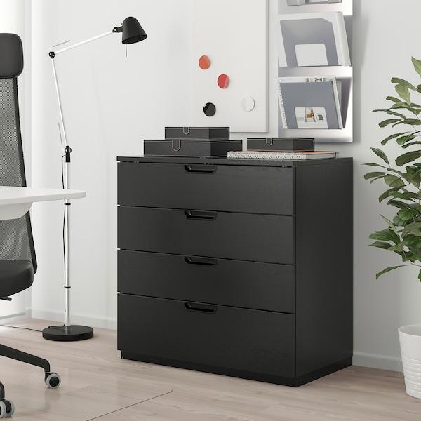 GALANT drawer unit black stained ash veneer 80 cm 45 cm 80 cm
