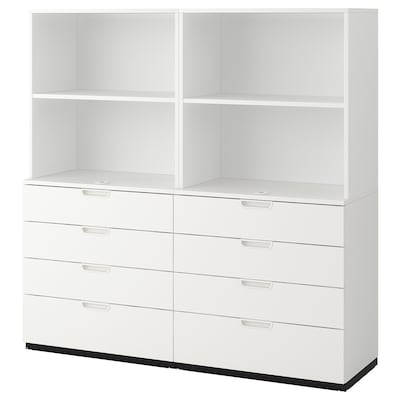 GALANT Storage combination with drawers, white, 160x160 cm