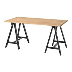 GERTON /  ODDVALD table, beech, black