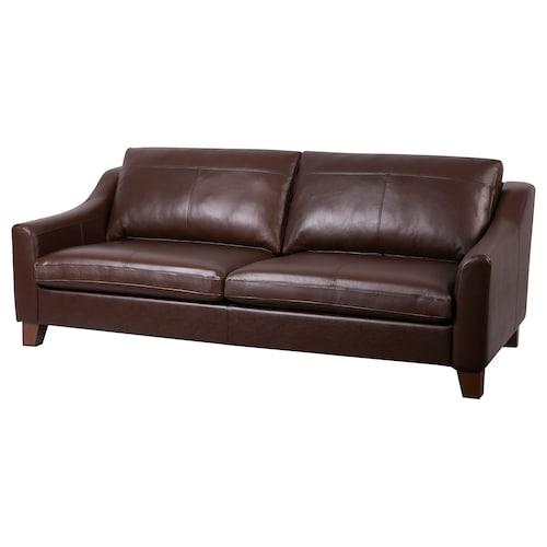 GISLÖV 3-seat sofa, Rolsmo/Ingebyn dark brown