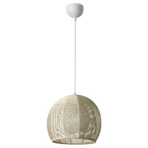 GISSBO pendant lamp natural 30 cm 37 cm 1.8 m