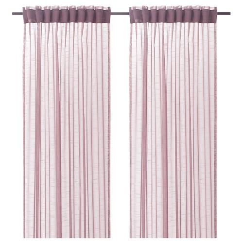 GJERTRUD sheer curtains, 1 pair pink 250 cm 145 cm