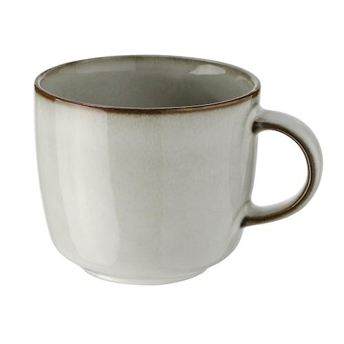 GLADELIG mug grey 8 cm 37 cl