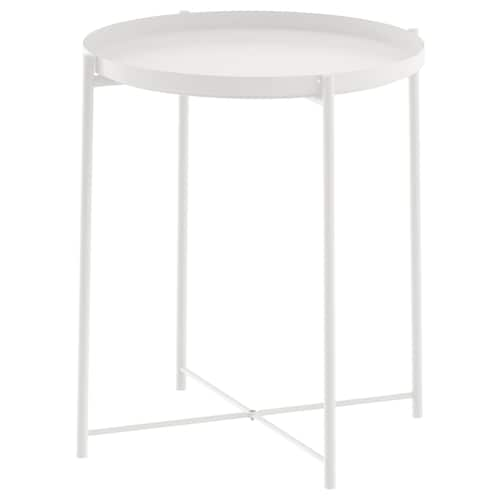 GLADOM Tray table, white, 45x53 cm