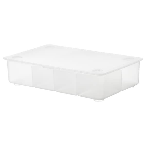 GLIS box with lid transparent 34 cm 21 cm 8 cm