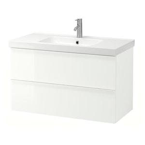 Colour: High-gloss white/dalskär tap.