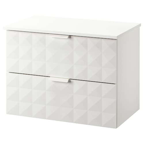 GODMORGON / TOLKEN wash-stand with 2 drawers Resjön white/white 82 cm 49 cm 60 cm
