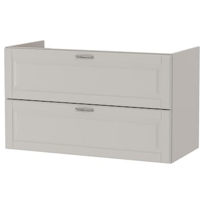 GODMORGON Wash-stand with 2 drawers, Kasjön light grey, 100x47x58 cm