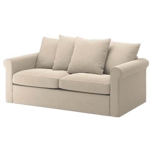 GRÖNLID 2-seat sofa-bed Sporda natural 53 cm 104 cm 68 cm 196 cm 98 cm 60 cm 49 cm 140 cm 200 cm 12 cm