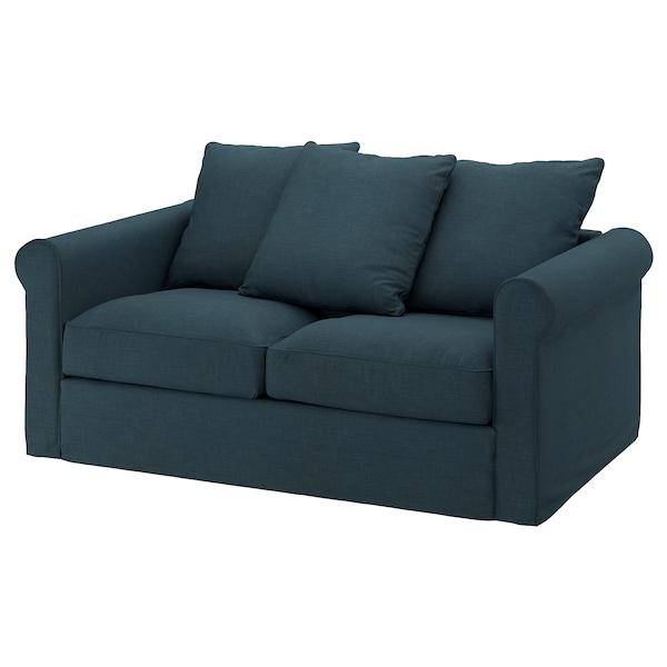 GRÖNLID 2-seat sofa, Hillared dark blue
