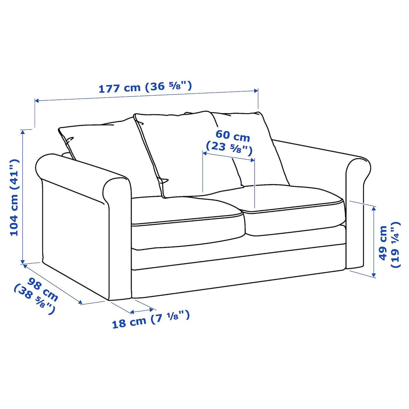 GrÖnlid 2 Seat Sofa Tallmyra Blue Ikea
