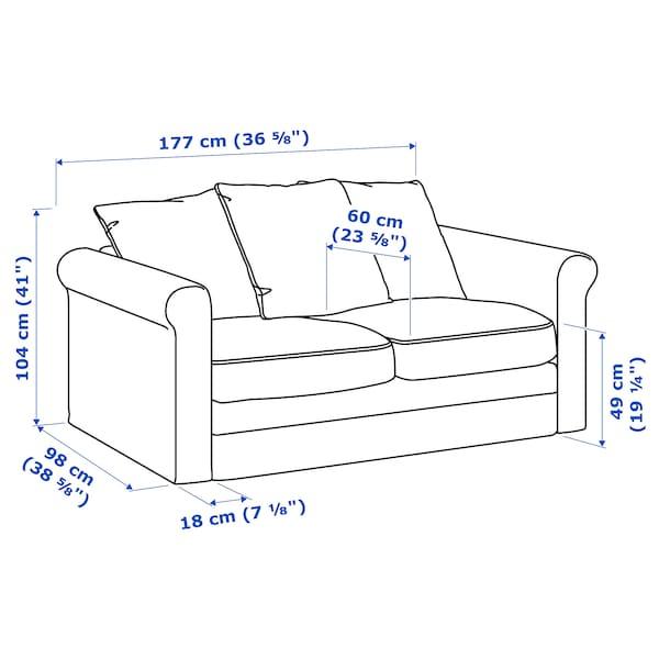 GRÖNLID 2-seat sofa Djuparp dark green-blue 104 cm 177 cm 98 cm 7 cm 18 cm 68 cm 141 cm 60 cm 49 cm