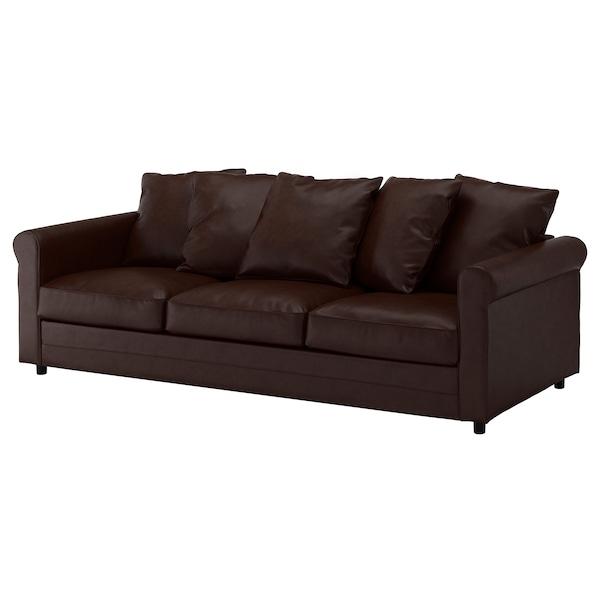 GRÖNLID 3-seat sofa Kimstad dark brown 104 cm 247 cm 98 cm 7 cm 18 cm 68 cm 211 cm 60 cm 49 cm
