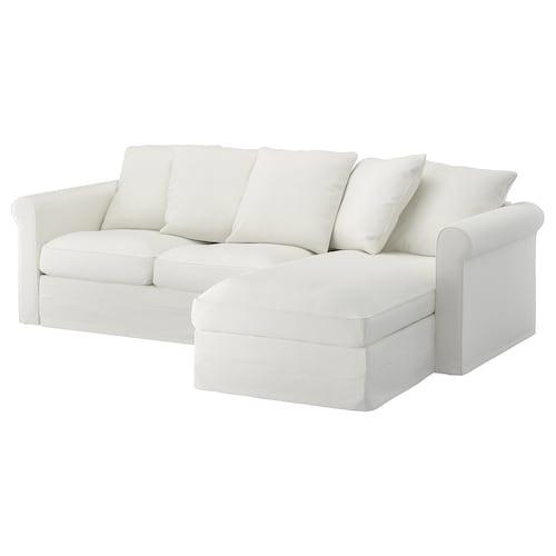 GRÖNLID 3-seat sofa with chaise longue/Gräsbo white 104 cm 164 cm 258 cm 98 cm 126 cm 7 cm 18 cm 68 cm 222 cm 60 cm 49 cm