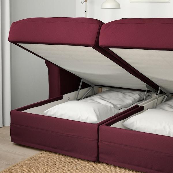 GRÖNLID 4-seat sofa with chaise longues/Ljungen dark red 104 cm 164 cm 339 cm 98 cm 126 cm 7 cm 18 cm 68 cm 303 cm 60 cm 49 cm