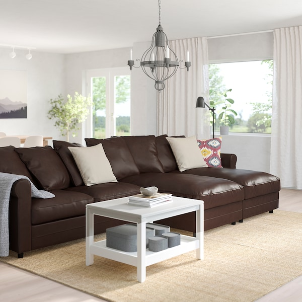 GRÖNLID 4-seat sofa with chaise longues/Kimstad dark brown 104 cm 164 cm 339 cm 98 cm 126 cm 7 cm 18 cm 68 cm 303 cm 60 cm 49 cm