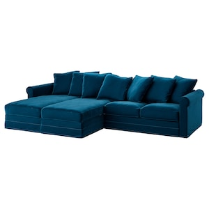 Cover: With chaise longues/djuparp dark green-blue.