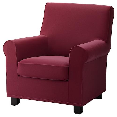 GRÖNLID armchair Ljungen dark red 87 cm 84 cm 90 cm 10 cm 60 cm 45 cm 53 cm 45 cm