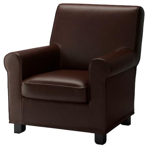 GRÖNLID armchair Kimstad dark brown 87 cm 84 cm 90 cm 10 cm 60 cm 45 cm 53 cm 45 cm