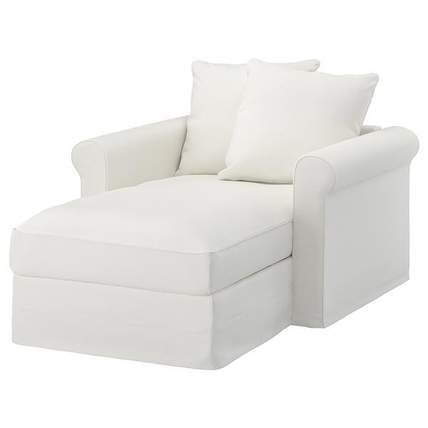 GRÖNLID chaise longue Gräsbo white 104 cm 117 cm 164 cm 7 cm 18 cm 68 cm 81 cm 126 cm 49 cm