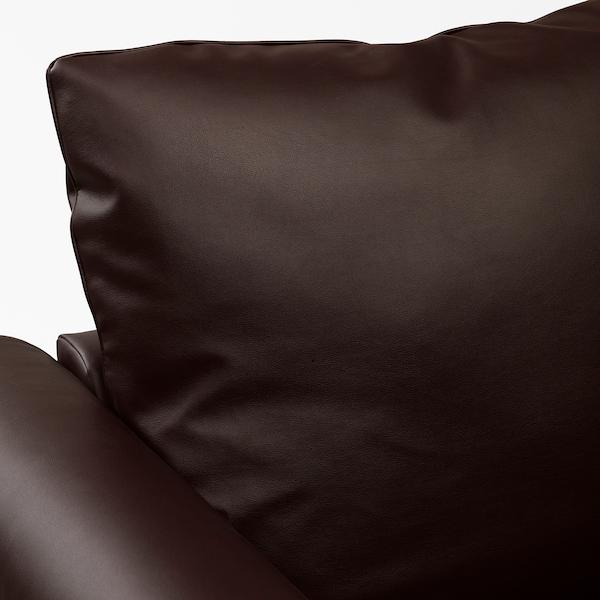 GRÖNLID chaise longue Kimstad dark brown 104 cm 117 cm 164 cm 7 cm 18 cm 68 cm 81 cm 126 cm 49 cm