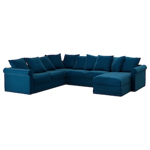 Cover: With chaise longue/djuparp dark green-blue.