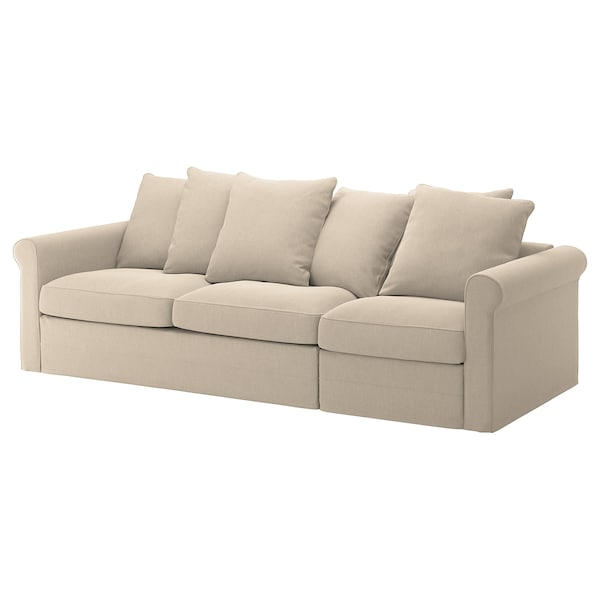 Gronlid Cover For 3 Seat Sofa Bed Sporda Natural Ikea