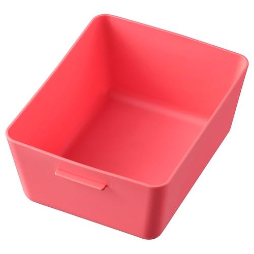 GRUNDVATTNET box light red 16.8 cm 13.7 cm 7.8 cm