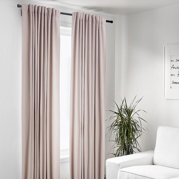 GULRESEDA Curtains, 1 pair, pink, 145x250 cm