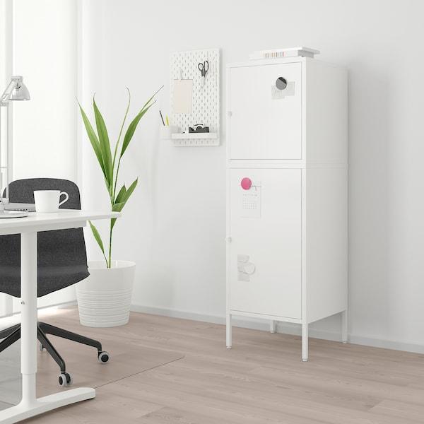 HÄLLAN storage combination with doors white 45 cm 47 cm 142 cm