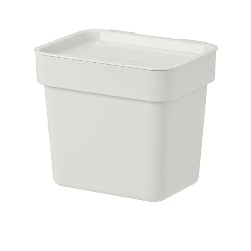 HÅLLBAR bin with lid light grey 11.7 cm 16.6 cm 16.2 cm 20.0 cm 17.1 cm 3 l