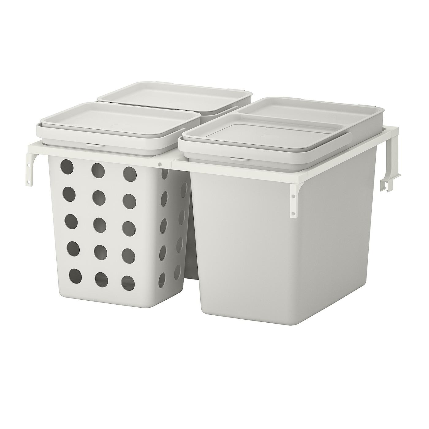 Hallbar Waste Sorting Solution For Metod Kitchen Drawer