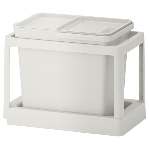 HÅLLBAR waste sorting solution with pull-out/light grey 22 l