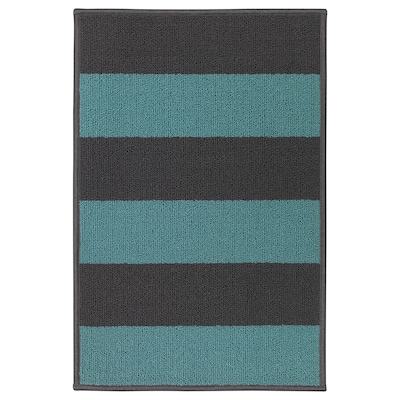HALSTED Door mat, grey/blue, 44x66 cm