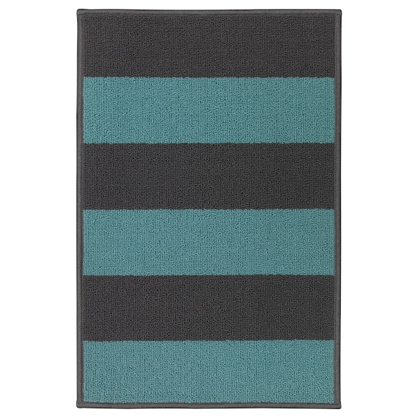 HALSTED door mat grey/blue 66 cm 44 cm 0.29 m²