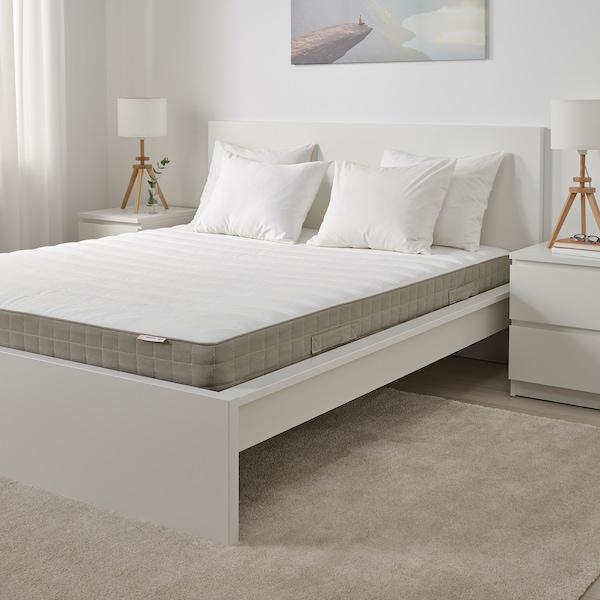 HAMARVIK Sprung mattress, firm/dark beige, 150x200 cm